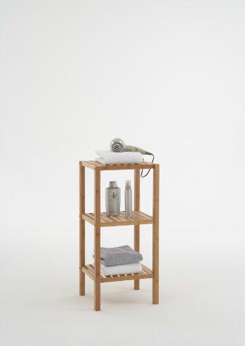 BALI Walnut 3 TIER Bathroom Storage Rack / Display Shelf Stand