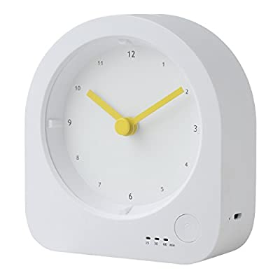 Rechargeable Clock Nightlight, RTSU Dimmable LED Night Light Bedside Lamp Tap Light For Baby Nursery Kids Bedroom Table Living Room, Silent Non Ticking Sweep Analog Quartz Movement Desk Clock