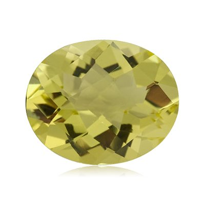 1.70 Cts of 9x7 mm AA Oval Checker Lemon Citrine ( 1 pc ) Loose Gemstone