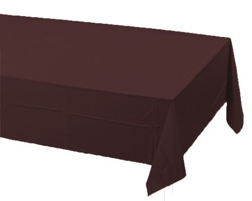 Chocolate Brown Table Covers (Pack of 2) - Touch of Color by Creative Converting, Brown Plastic Tablecloths