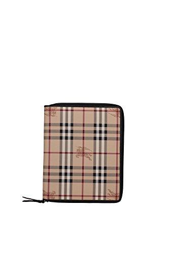 Porta iPad Burberry Uomo Tessuto Nero e check classico Burberry 3729286 20.5x26 cmEU