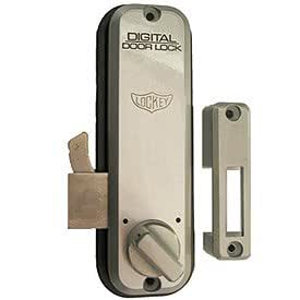 Digital Door Lock 2500 Mechanical Keyless Hook Bolt Bright Brass Industrial