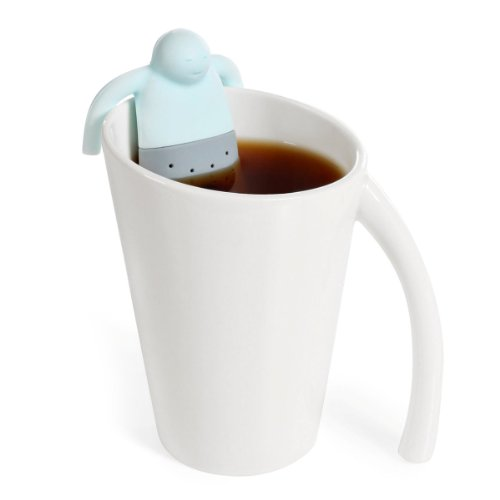 Tinksky Cute Cartoon Guy Shaped Soft Silicone Mister Tea Strainer Tea Infuser