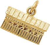 Hot Sale Rembrandt Charms Covered Bridge Charm, 10K Yellow Gold