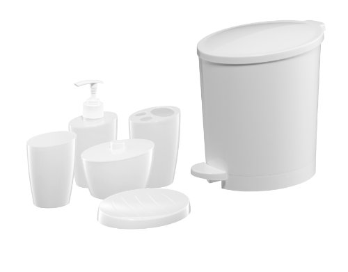 Bisk 03326 POP Bin and Accessory Set, White