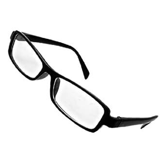 HIgh Fashion Chic Eyeglasses Glasses in Black Rectangular Spectacle Frame