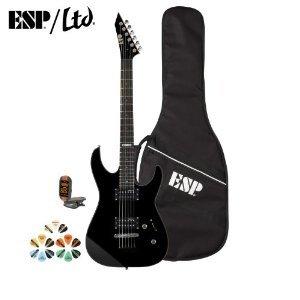 Esp M Jb-M10Kit-Blk-Kit-3 Electric Guitar With Tuner, Picks And Esp Gig Bag - Black