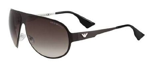 Emporio Armani Men's 9623 Light Brown Frame/Brown Gradient Lens Metal Sunglasses