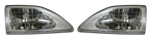 Ford Mustang (Cobra) Replacement Headlight Assembly - 1-Pair (Mustang Cobra Headlights compare prices)