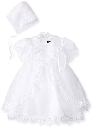 Pretty Me, USA Baby-Girls Infant Sophia Christening Dress, White, 6 Months/Small