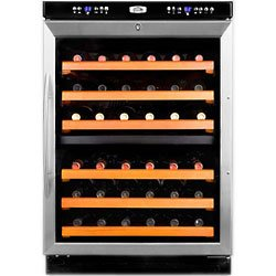 Summit Under-Counter Dual-Zone Wine Cellar - 46 Bottle: Stainless Steel