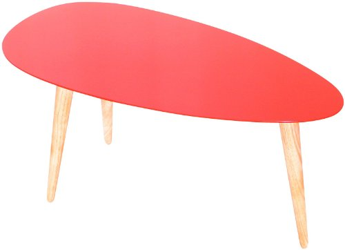 Mili Designs Small Egg Table-Red