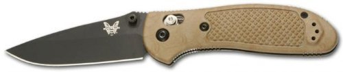 Benchmade Pardue Design Axis Griptilian Drop-Point Blade With Sand-Colored Handle And Bk1 Coating