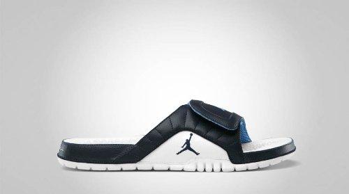 Men's Jordan Hydra V Premium 351006 405 Obsidian White Sandal (Men's 9, Obsidian White)