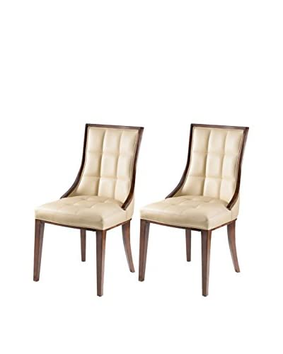 International Design 5th Ave Set of 2 Dining Chairs, Cream