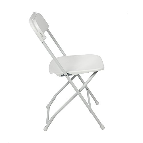 Best Choice Products 5 mercial White Plastic Folding Chairs Stackable W