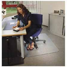 Floortex Products - Chairmat, w/ Grippers, Rectangular, 48
