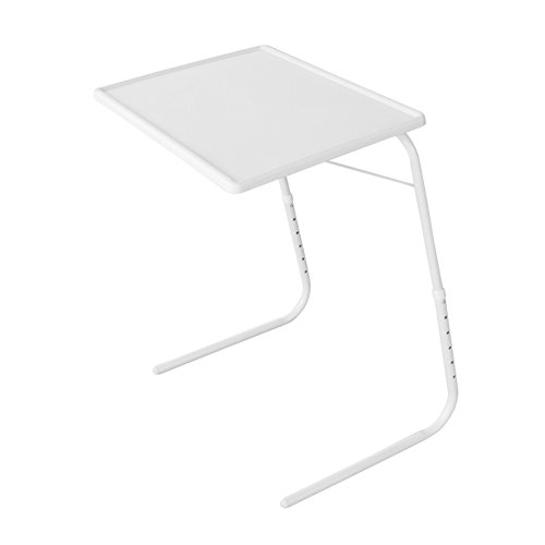Evelots Adjustable Bed Tray Table, The Ultimate Portable Folding Table, White (Tray Table Adjustable compare prices)