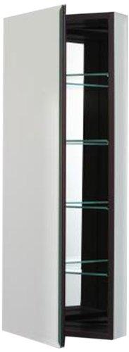 Robern CB-PLM1640BB  Pl-Series Flat Bevel Mirror Medicine Cabinet, Black