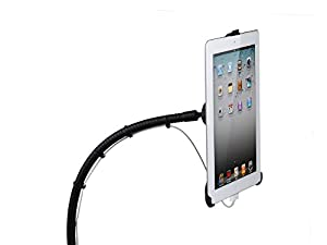Taotronics TT-HS03 Full-motion Rotatable Desktop / Bed Clamp Steel Mount Holder with 360 Degree Easy Adjustable Gooseneck Arm Support Stand for Apple iPad 2, the New iPad(3rd Gen), iPad with Retina Display(4th Gen), Hands-Free Viewing, Couch / Bed Side / Kitchen / Office Table Stand + FREE Protective Back Skin for iPad 2/3/4(holder requires no cases on the ipad)