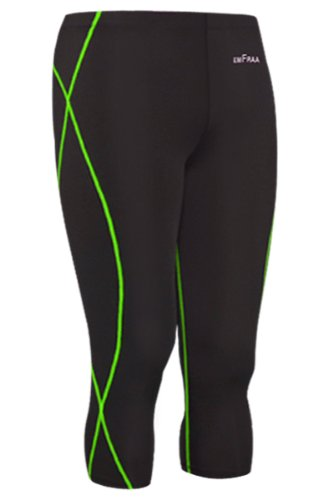 Emfraa Skin Tight Capri Three Quarter Pants Men Women Compression Running Base Layer S ~ 2XL