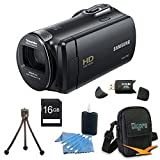 Samsung HMX-F80 Flash Memory HD Digital Video Camcorder (Black) 16GB Deluxe Bundle