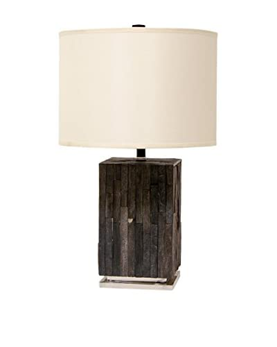 Palecek Petrified Wood Rough Tile Lamp, Multi