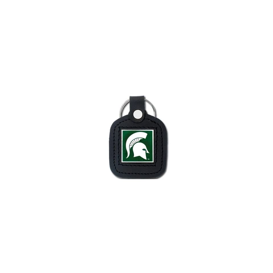 College Leather Key Ring   Michigan State Spartans  Sports