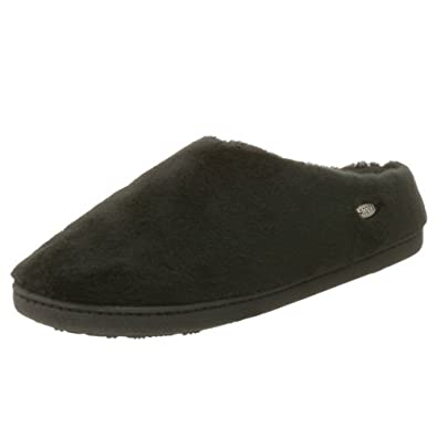 ACORN Women's Velvet Mule Slipper Black,Medium 6.5-7.5 M US