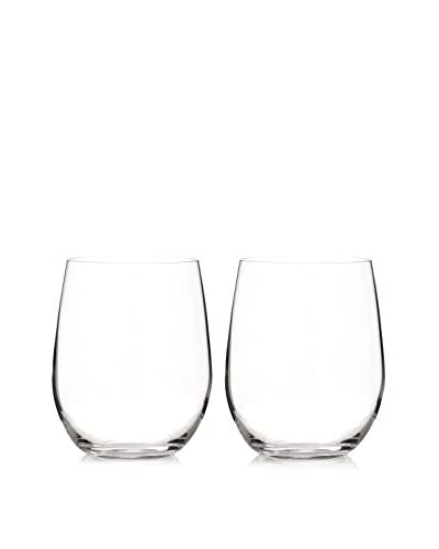 "Riedel Set of 2 ""O"" 11.25-Oz. Chardonnay-Viognier Stemless Wine Glasses, Clear"