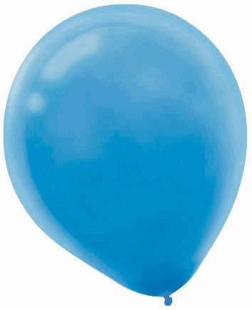 "Amscan Powder Bulk Solid Color Latex Balloons, 12"", Blue - 1"