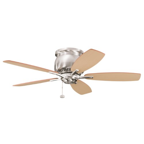 Kichler Lighting 300124Bss Richland Ii 42In Flush-Mount Ceiling Fan, Brushed Stainless Steel Finish With Reversible Blades front-1030021