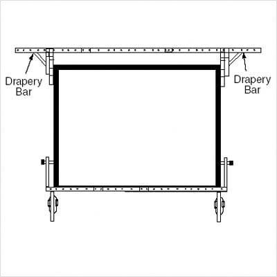 Drapery Bars for Dress Kit Size: Square - 92