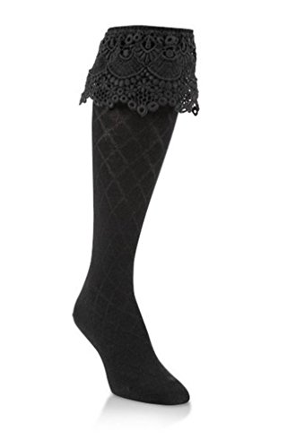 World's Softest Womens Weekend Collection Sassy Lace Style Knee High Socks