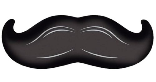 "Creative Converting Mustache Madness Long Mustache Shaped Mylar Foil Balloon, 36"""