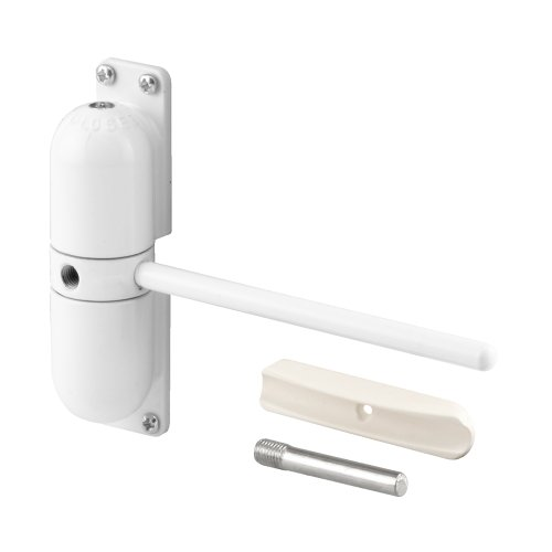 Prime-Line Products KC10HD Safety Spring Door Closer, 4-1/4 in., Diecast Construction, White, Non-Handed Pneumatic Arm