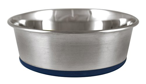 ourpets-premium-rubber-bonded-stainless-steel-dog-bowl-2qt-2qt