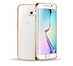 SDO Luxury Screwless Dual Tone Arc Edge Bumper Case for Samsung Galaxy S6 Edge Plus - Golden