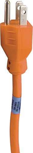Indoor/Outdoor 25-Foot General Purpose Grounded Extension Cord, Orange 51924