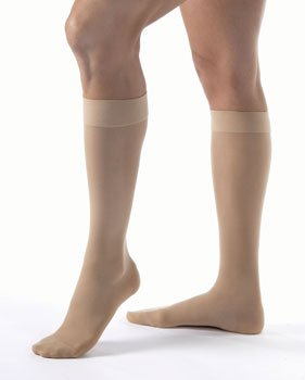 Jobst Ultrasheer Compression Support Knee High 20-30Mmhg Petite Open Toe, Medium, Natural - 119789