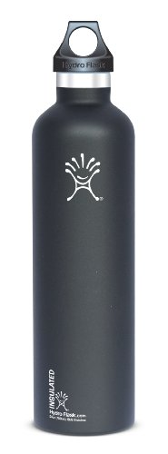 Hydro Flask Stainless Steel Drinking Bottle, Black Butte, 24-Ounce front-277531