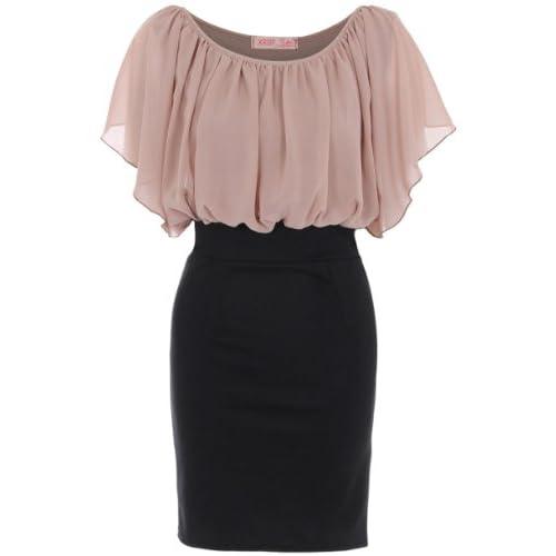 KRISP® Womens Chiffon Oversize Pencil Wiggle Bodycon Dress Plus Size