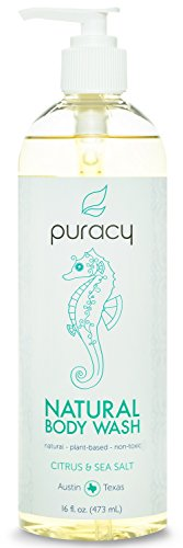 Puracy Natural Body Wash, Citrus and Sea Salt, 16 Fluid Ounce (Sea Breeze Body Wash compare prices)