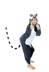 UBeauty Unisex-adult Kigurumi Onesie Unicorn Pajamas (S, Lemur Catta )