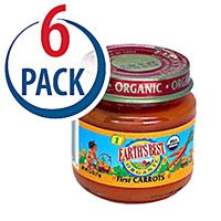 Earth's Best Organic Baby Food Stage 1 Ages 4 Months & Up First Carrots -- 2.5 oz Each / Pack of 6