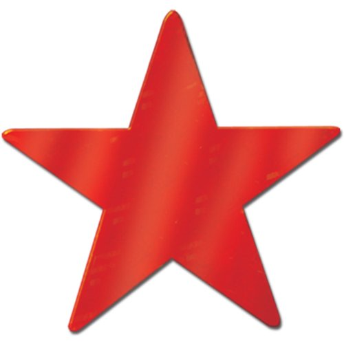 Beistle Home Party Decorations Foil Star Cutout Red 5 inch