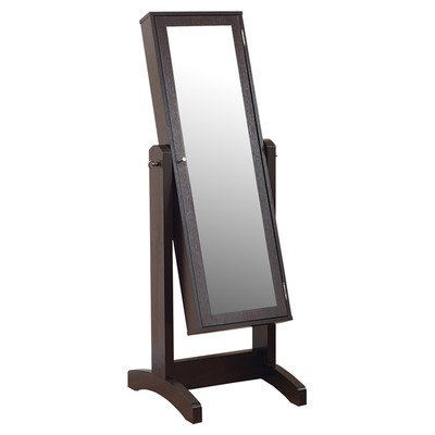 Gracie Cheval Jewelry Armoire With Mirror front-37075