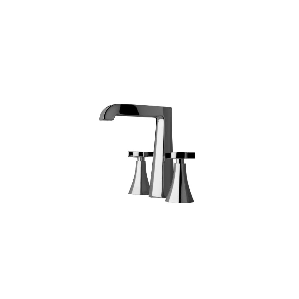 Aquabrass B9116PC Polished Chrome Bathroom Faucets 8 Tall Widespread Lav Faucet With Cross Handle