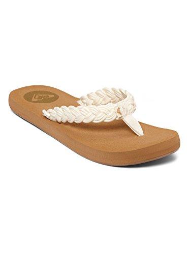 Roxy Women's Coastal Flip Flop,White,8 M US