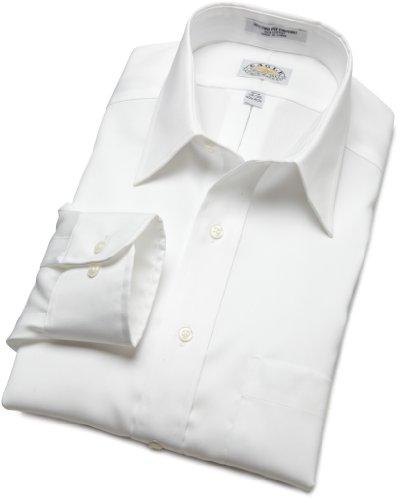 Eagle No Iron Point Collar Dress Shirt - White 17 X 34-35, W